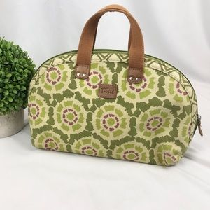 Fossil Key-Per large domed cosmetic makeup bag